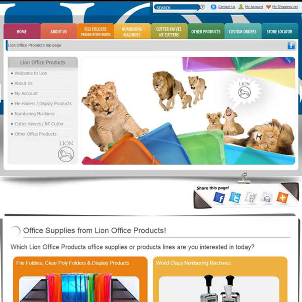 Lion Responsive Website