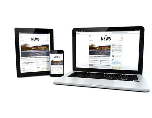 Responsive Websites Scale all the way down to smartphones.